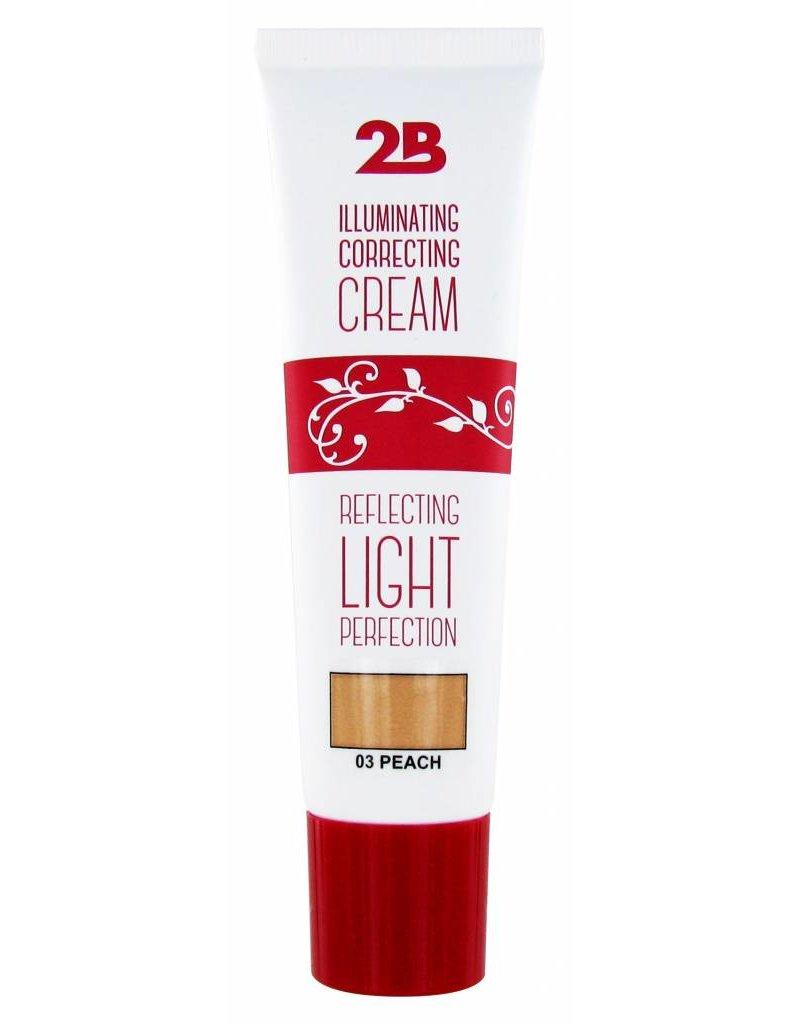 2B Cosmetics Illuminating Correcting Cream - 03 peach