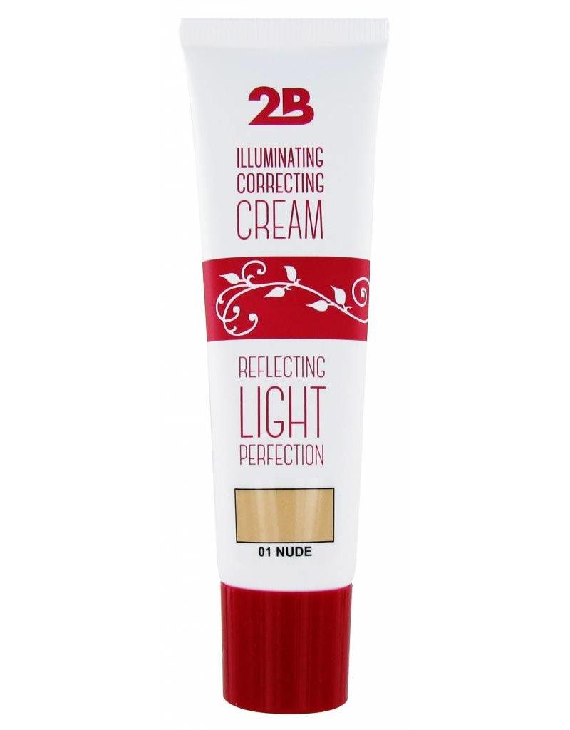 2B Cosmetics Illuminating Correcting Cream - 01 nude