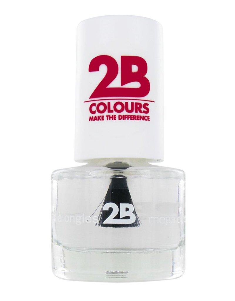 2B Cosmetics NAIL POLISH MEGA COLOURS MINI - 1 Water shine