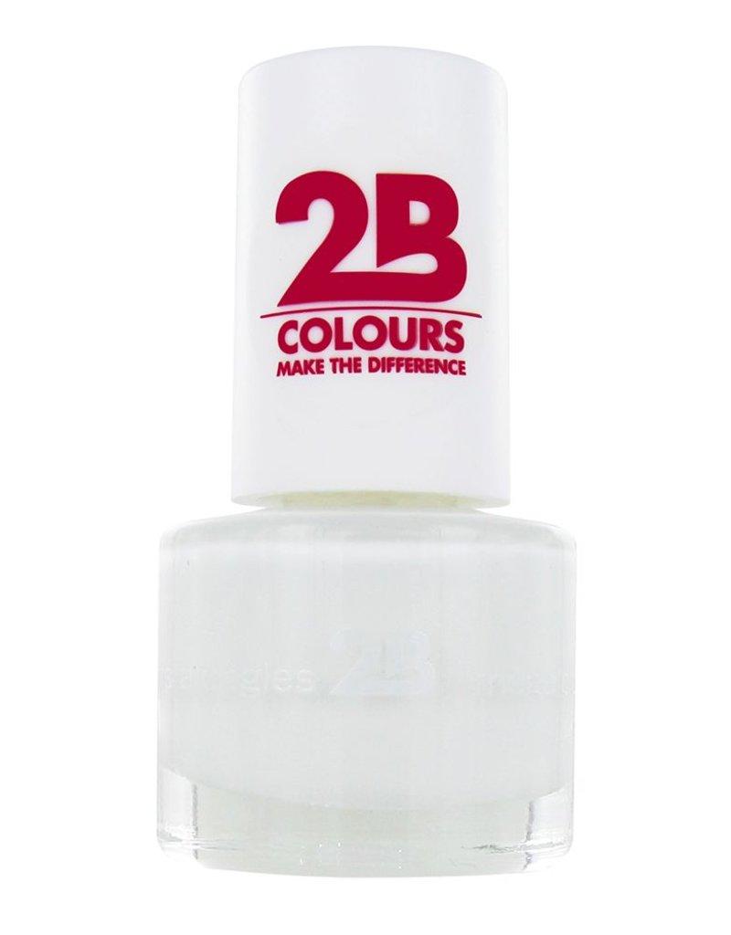 2B Cosmetics NAIL POLISH MEGA COLOURS MINI - 12 Snow white