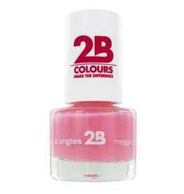 2B Cosmetics VERNIS à ONGLES MEGA COLOURS MINI - 4 Candy Pink