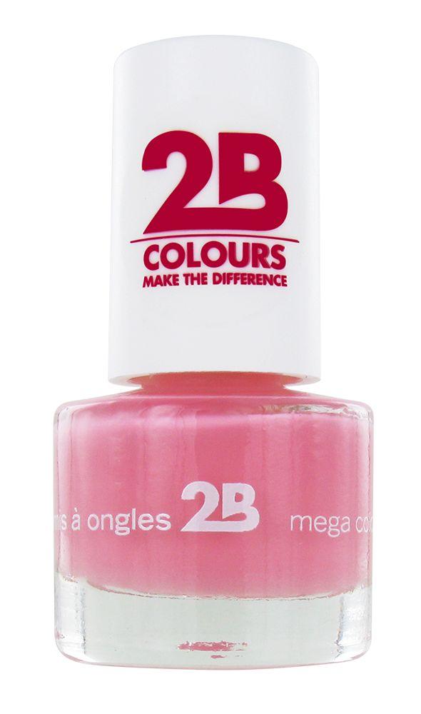 2B Cosmetics VERNIS à ONGLES MEGA COLOURS MINI - 4 Candy Pink