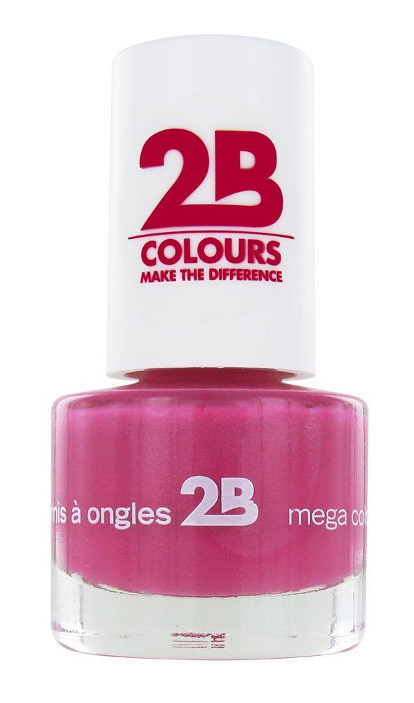 2B Cosmetics NAGELLAK MEGA COLOURS MINI - 7 Frosted Pink