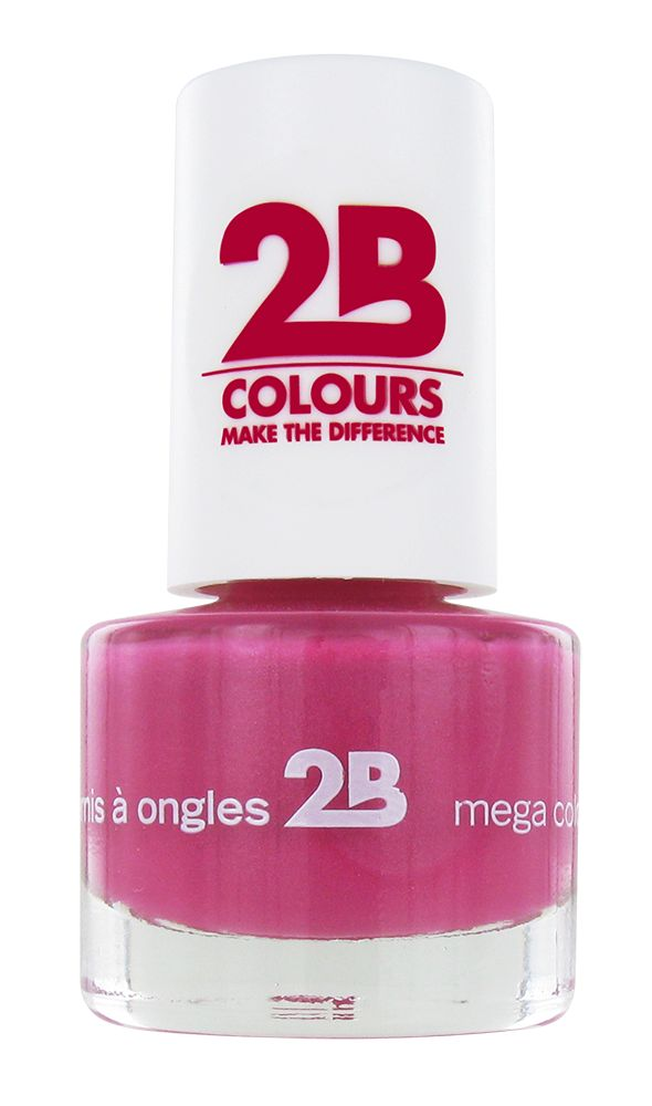 2B Cosmetics VERNIS à ONGLES MEGA COLOURS MINI - 7 Frosted Pink