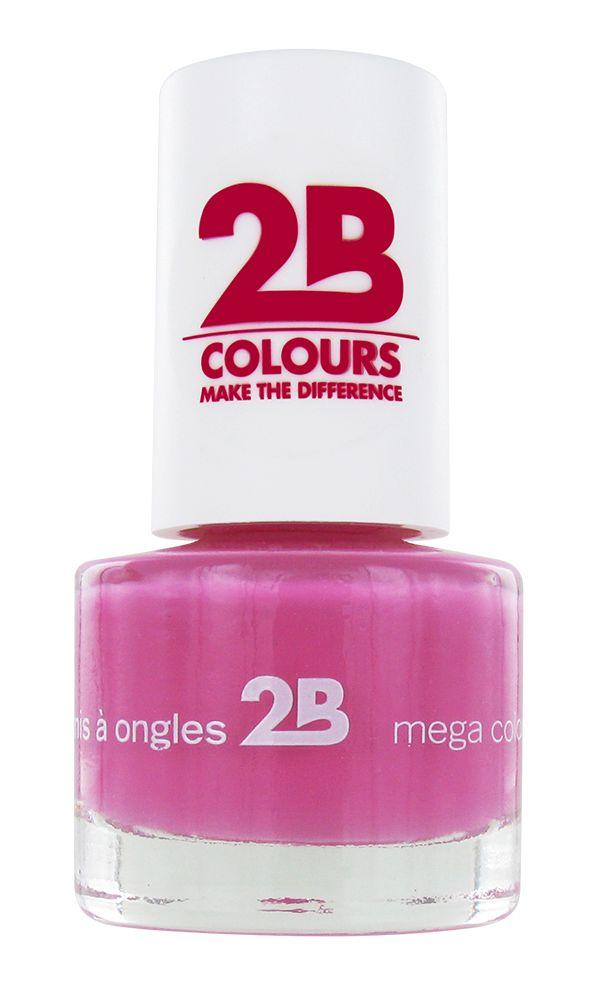 2B Cosmetics VERNIS à ONGLES MEGA COLOURS MINI - 8 Crazy 4 Pink