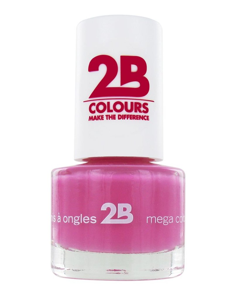 2B Cosmetics NAIL POLISH MEGA COLOURS MINI - 8 Crazy 4 Pink