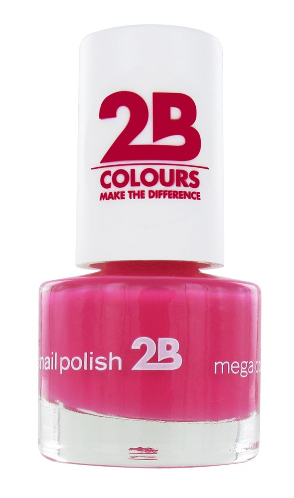 2B Cosmetics VERNIS à ONGLES MEGA COLOURS MINI - 10 Raspberry Passion