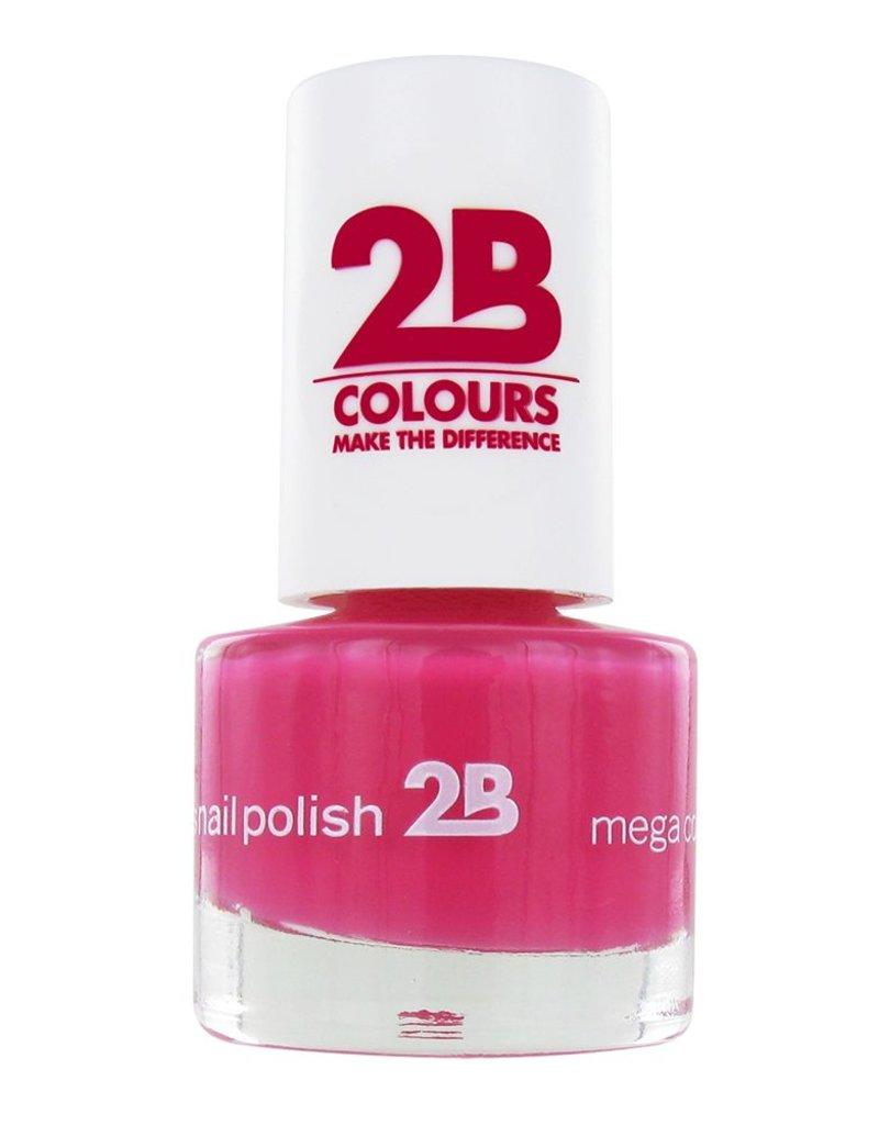 2B Cosmetics VERNIS à ONGLES MEGA COLOURS MINI - 10 Raspberry Passion