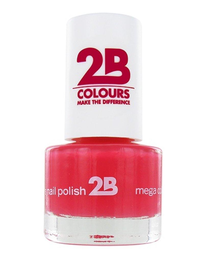 2B Cosmetics VERNIS à ONGLES MEGA COLOURS MINI - 12 American Rose