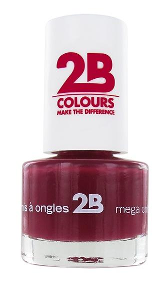 2B Cosmetics NAIL POLISH MEGA COLOURS MINI - 14 Burgundy Velvet