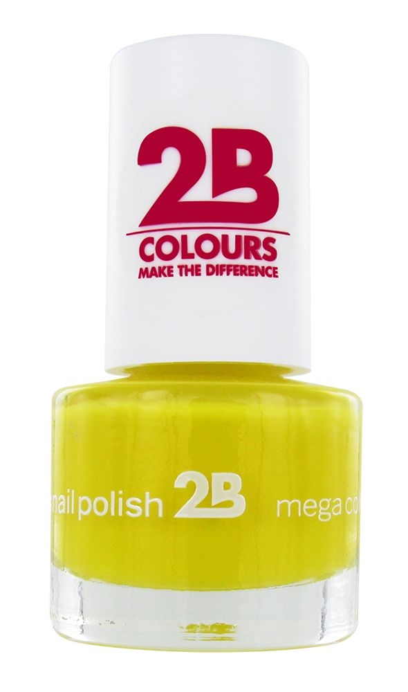 2B Cosmetics NAGELLAK MEGA COLOURS MINI - 15 Yellow Sun