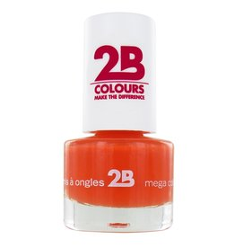 2B Cosmetics NAGELLAK MEGA COLOURS MINI - 16 Light Orange