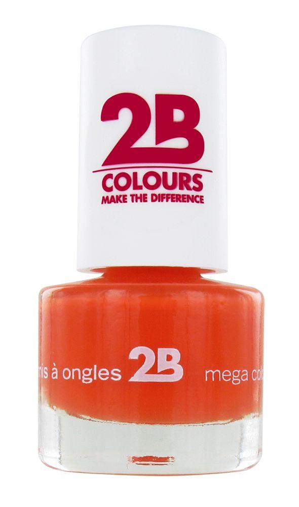 2B Cosmetics NAGELLAK MEGA COLOURS MINI - 16 Light Orange