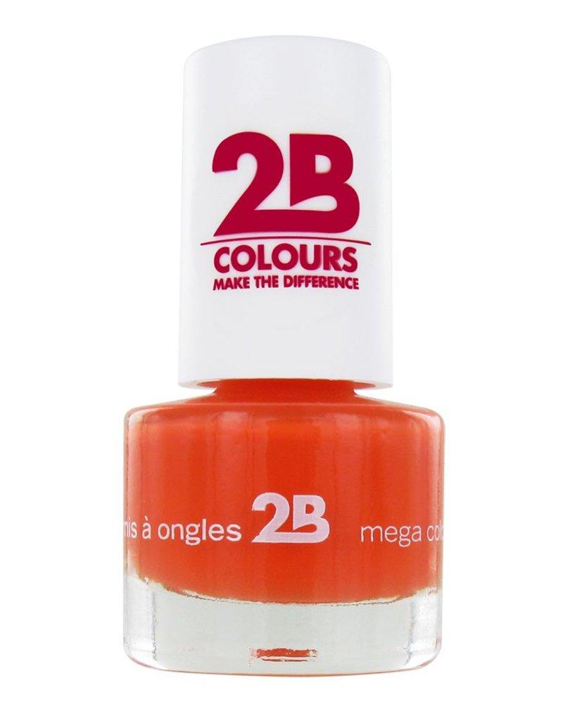 2B Cosmetics VERNIS à ONGLES MEGA COLOURS MINI - 16 Light Orange