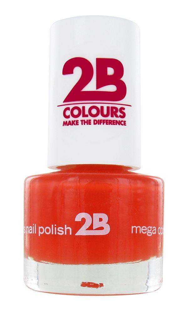 2B Cosmetics VERNIS à ONGLES MEGA COLOURS MINI - 17 Crazy Orange