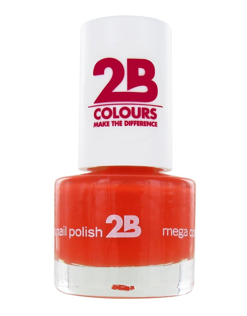 2B Cosmetics NAGELLAK MEGA COLOURS MINI - 17 Crazy Orange