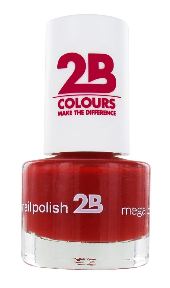 2B Cosmetics NAGELLAK MEGA COLOURS MINI - 20 Deep Ruby Red