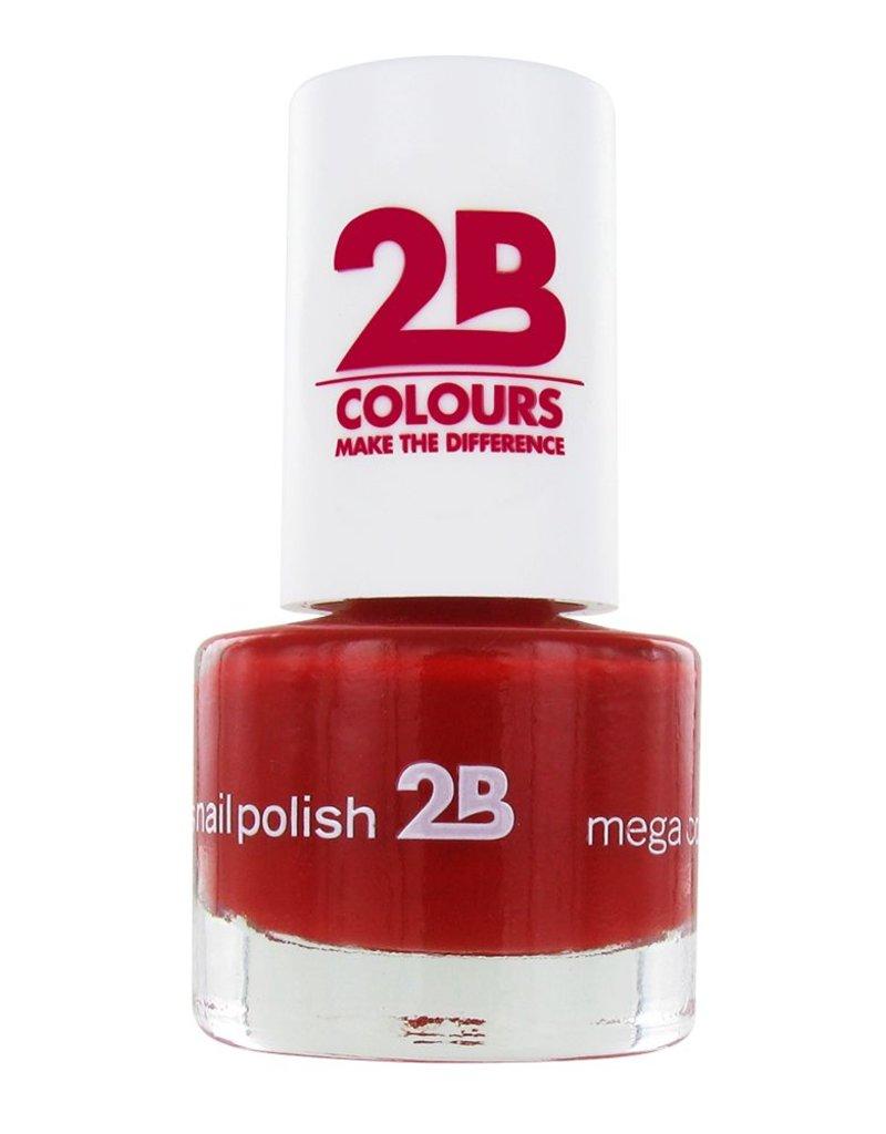 2B Cosmetics NAIL POLISH MEGA COLOURS MINI - 20 Deep Ruby Red