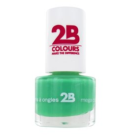 2B Cosmetics VERNIS à ONGLES MEGA COLOURS MINI - 25 Grass Green