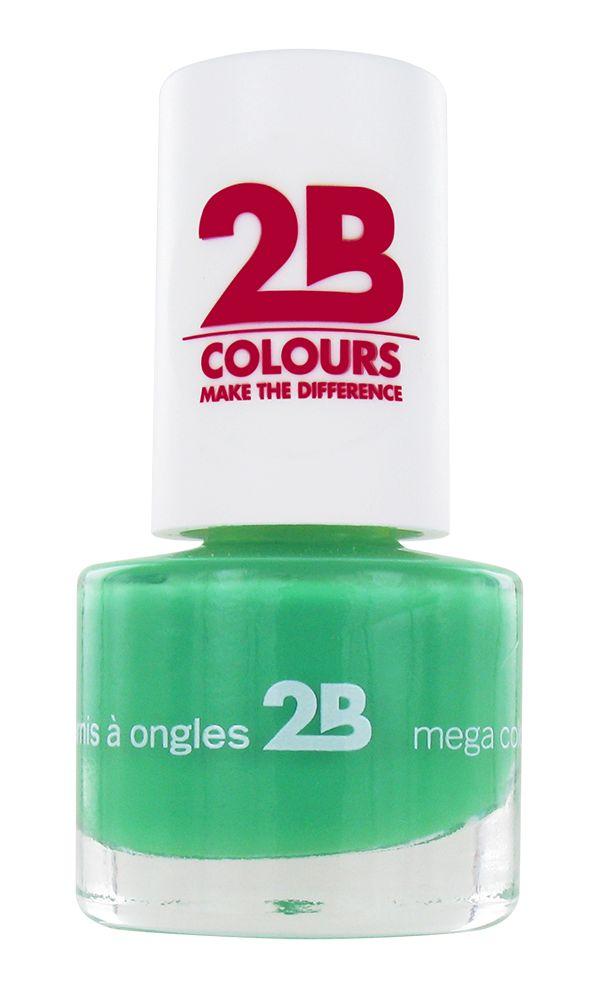 2B Cosmetics NAGELLAK MEGA COLOURS MINI - 25 Grass Green