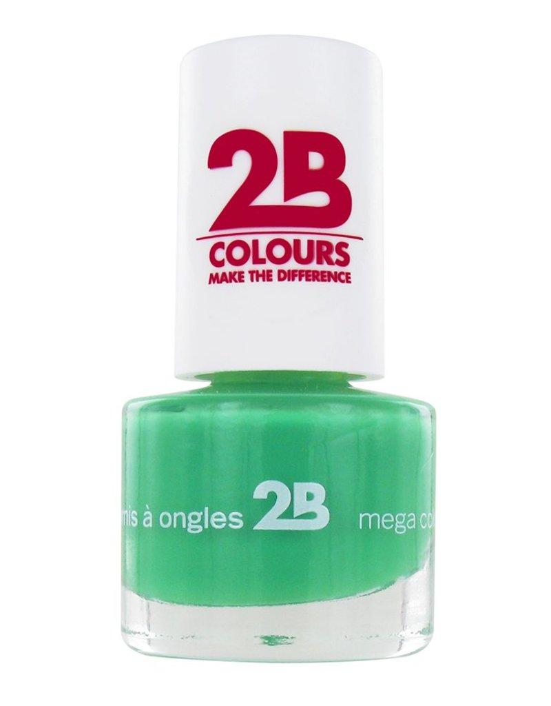 2B Cosmetics NAIL POLISH MEGA COLOURS MINI - 25 Grass Green