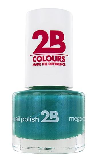 2B Cosmetics VERNIS à ONGLES MEGA COLOURS MINI - 26 Jade Green