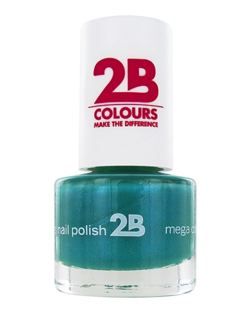 2B Cosmetics NAGELLAK MEGA COLOURS MINI -26 Jade Green
