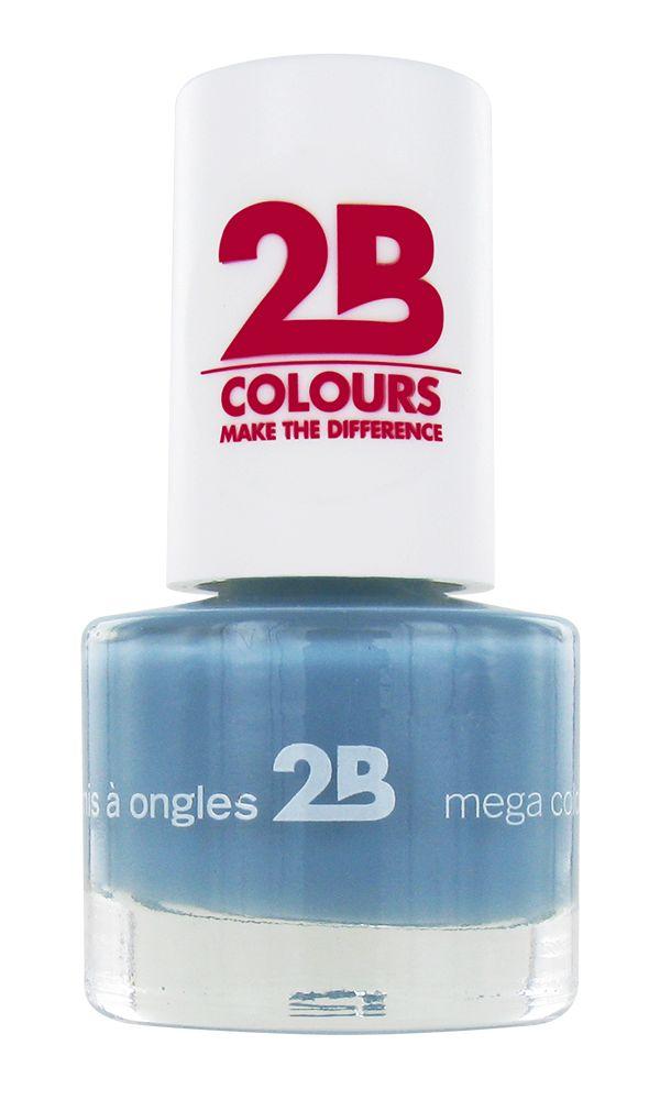 2B Cosmetics NAIL POLISH MEGA COLOURS MINI - 28 Ocean Blue Wave
