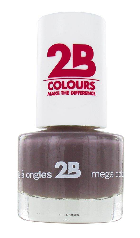 2B Cosmetics VERNIS à ONGLES MEGA COLOURS MINI - 32 Taupe