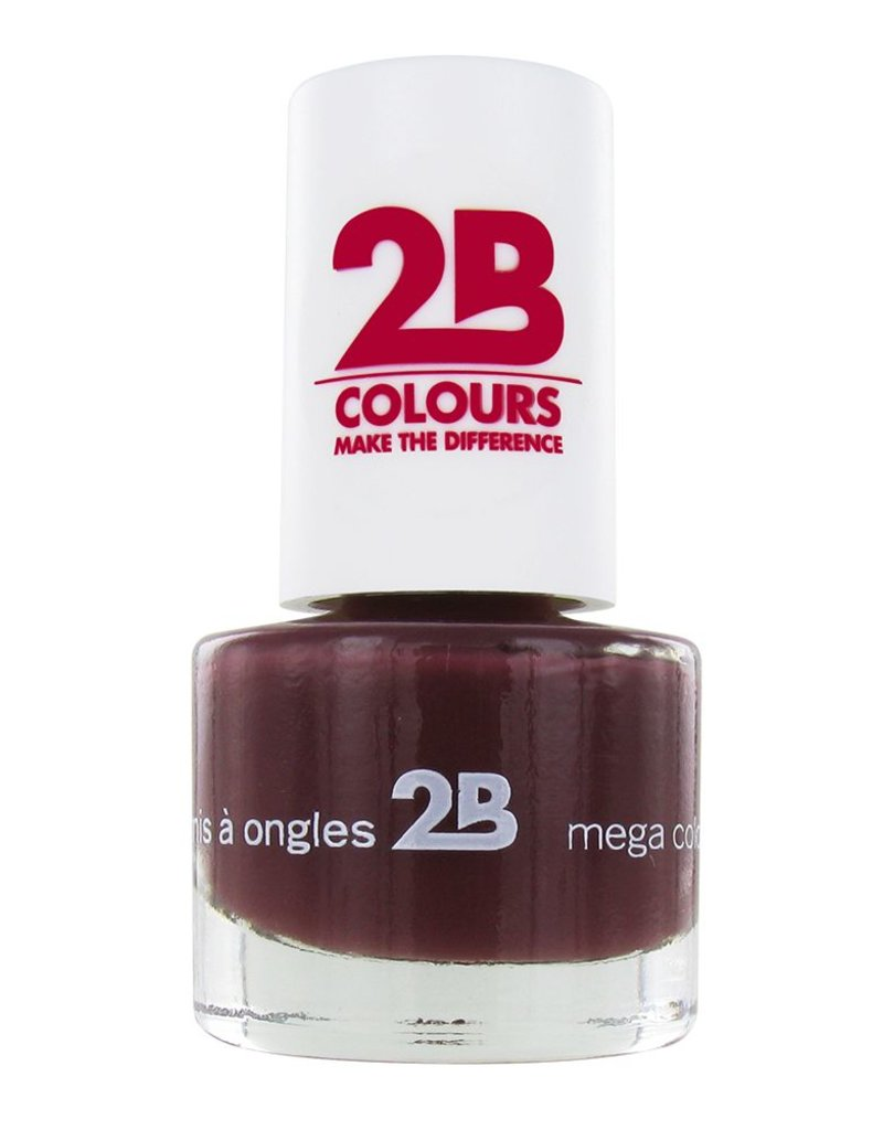 2B Cosmetics VERNIS à ONGLES MEGA COLOURS MINI - 33 Dark Chocolate
