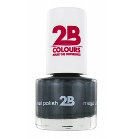 2B Cosmetics NAIL POLISH MEGA COLOURS MINI - 34 Magic Silver