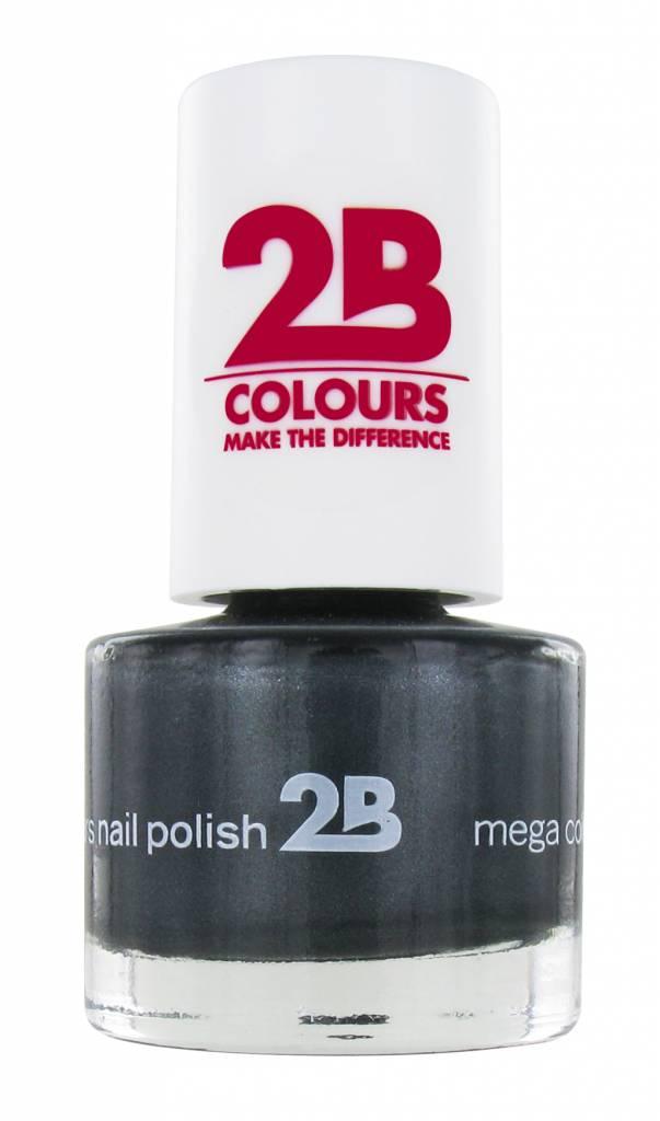2B Cosmetics NAIL POLISH MEGA COLOURS MINI - 34 Magic Silver