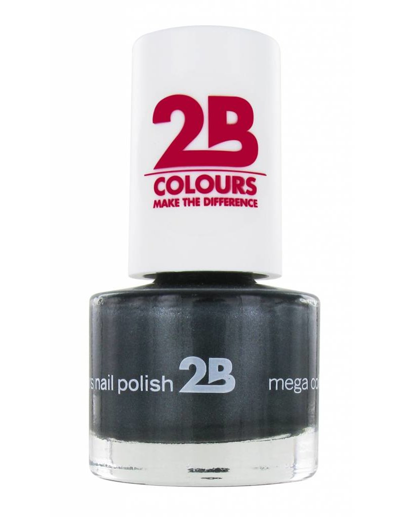 2B Cosmetics NAGELLAK MEGA COLOURS MINI - 34 Magic Silver