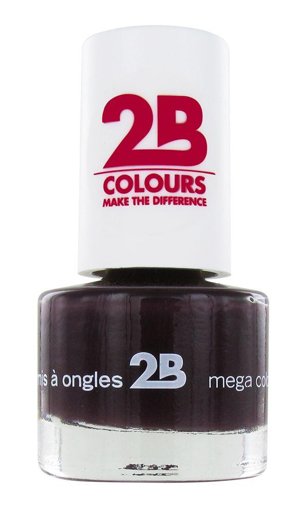2B Cosmetics VERNIS à ONGLES MEGA COLOURS MINI - 35 Black Devil