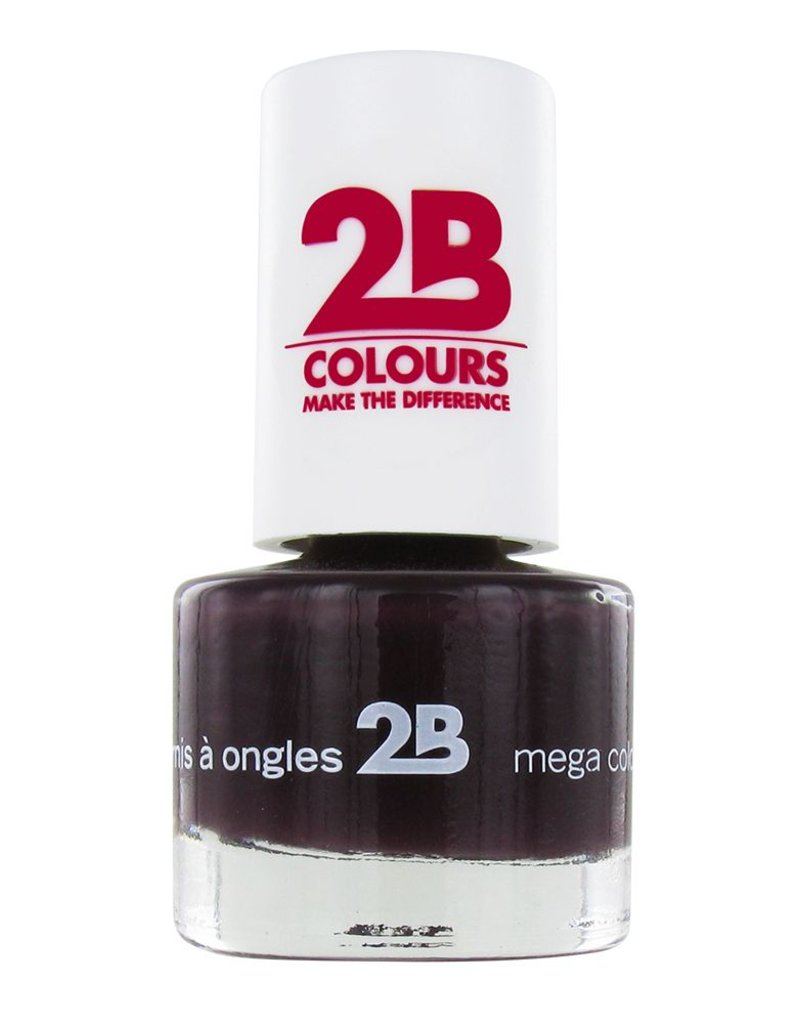 2B Cosmetics NAIL POLISH MEGA COLOURS MINI - 35 Black Devil