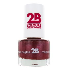 2B Cosmetics NAIL POLISH MEGA COLOURS MINI - 37 Sugar Metal - Pink