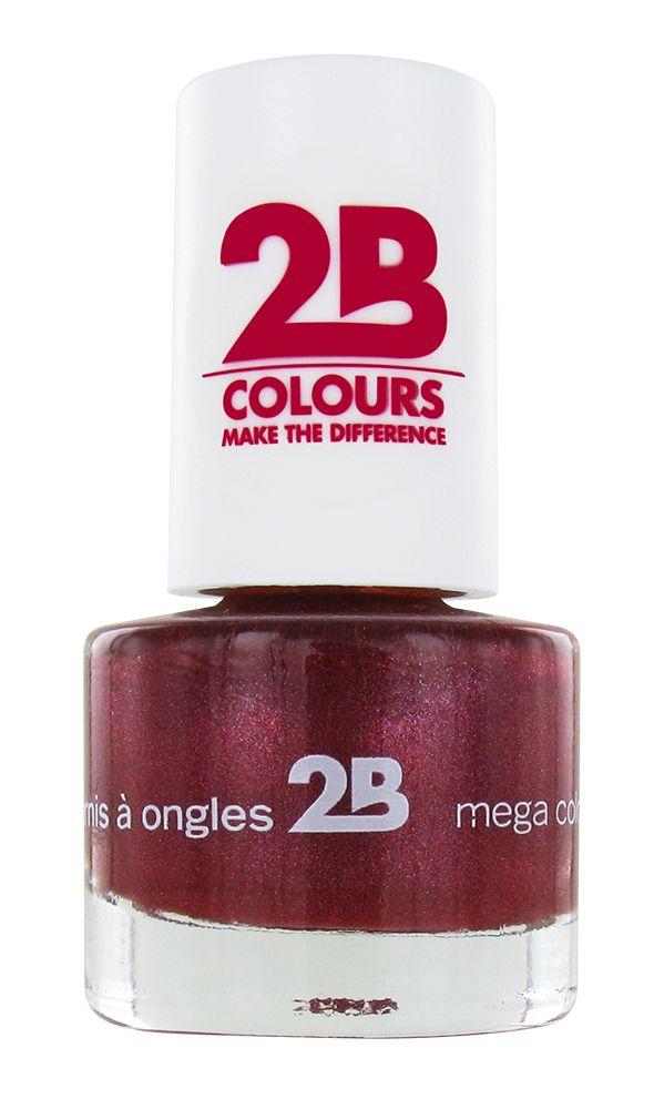 2B Cosmetics NAIL POLISH MEGA COLOURS MINI - 37 Sugar Metal - Pink