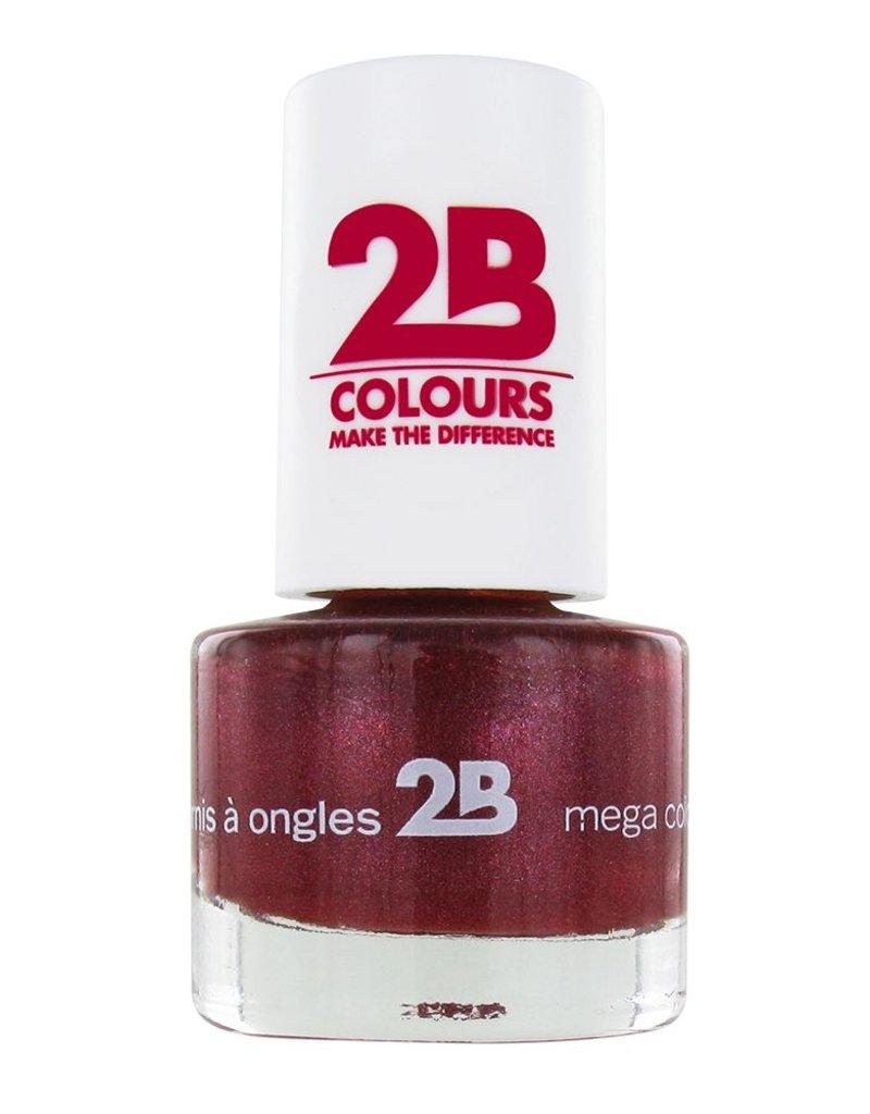 2B Cosmetics VERNIS à ONGLES MEGA COLOURS MINI - 37 Sugar Metal - Pink