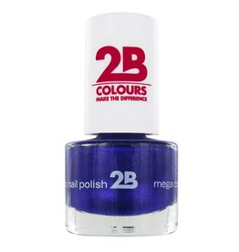2B Cosmetics NAGELLAK MEGA COLOURS MINI - 38 Sugar Metal - Blue