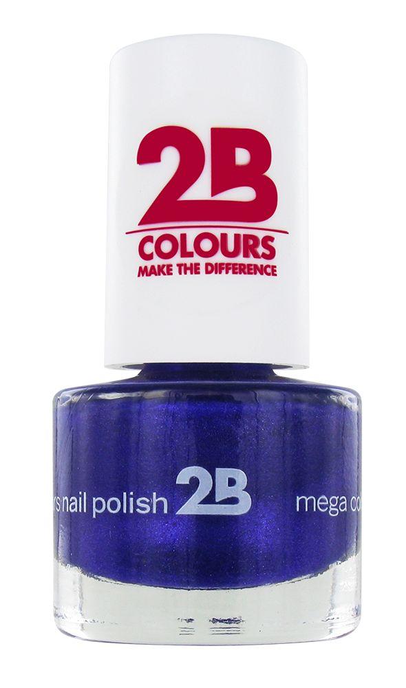 2B Cosmetics NAGELLAK MEGA COLOURS MINI - 38 Sugar Metal - Blue