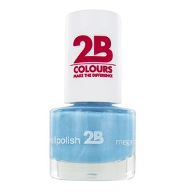 2B Cosmetics NAGELLAK MEGA COLOURS MINI - 42 Matt Satin Pastel - Blue