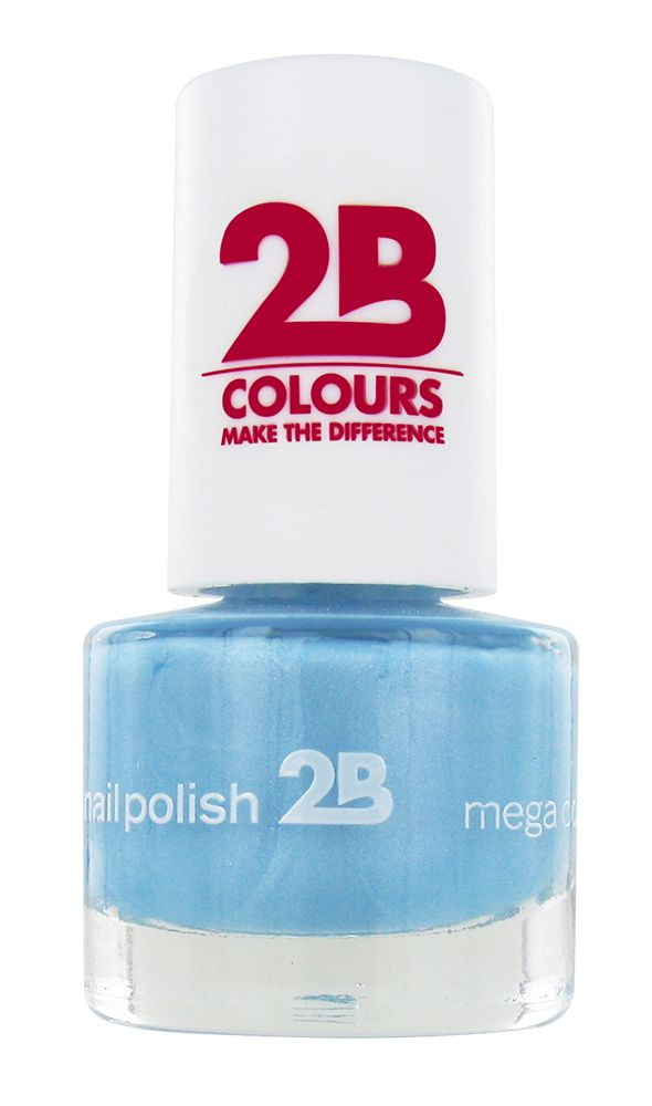 2B Cosmetics VERNIS à ONGLES MEGA COLOURS MINI - 42 Matt Satin Pastel - Blue