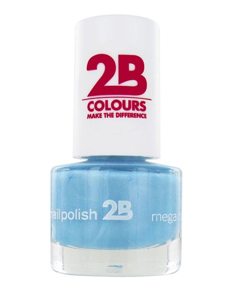 2B Cosmetics NAGELLAK MEGA COLOURS MINI - 42 Matt Satin Pastel - Blue