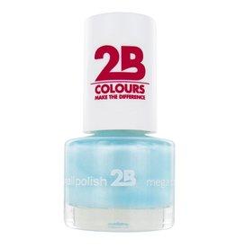 2B Cosmetics NAIL POLISH MEGA COLOURS MINI - 43 Matt Satin Pastel - Green