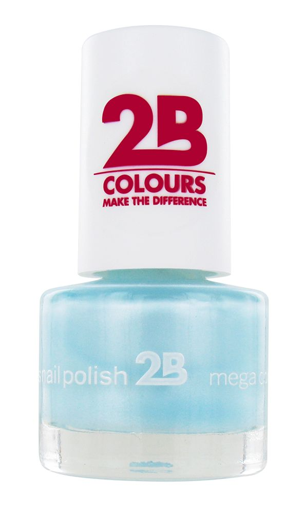 2B Cosmetics NAGELLAK MEGA COLOURS MINI - 43 Matt Satin Pastel - Green