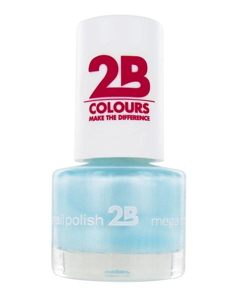 2B Cosmetics NAGELLAK MEGA COLOURS MINI - 43 Matt Satin Pastel - Green