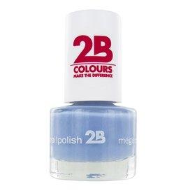 2B Cosmetics NAIL POLISH MEGA COLOURS MINI - 46 Magic Thermo Style - Grey Blue