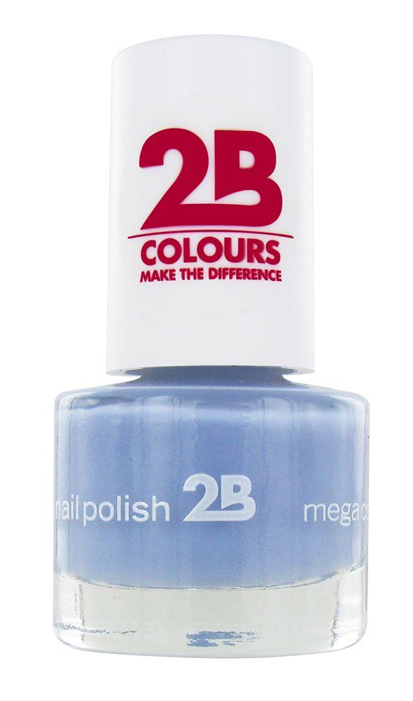 2B Cosmetics NAGELLAK MEGA COLOURS MINI - 46 Magic Thermo Style - Grey Blue