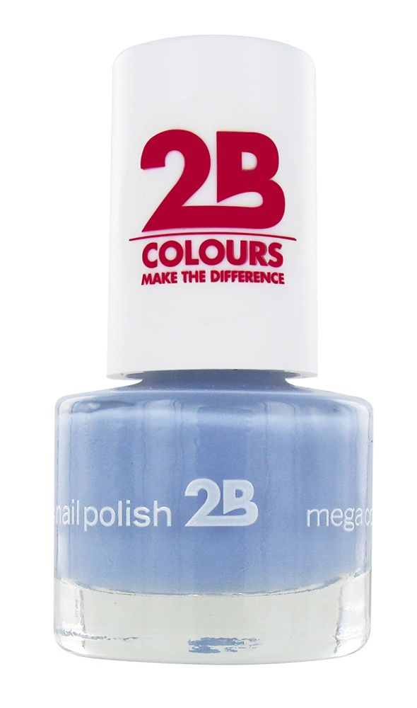 2B Cosmetics NAIL POLISH MEGA COLOURS MINI - 46 Magic Thermo Style - Grey Blue
