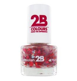 2B Cosmetics NAIL POLISH MEGA COLOURS MINI - 48 Harlekino - Ruby